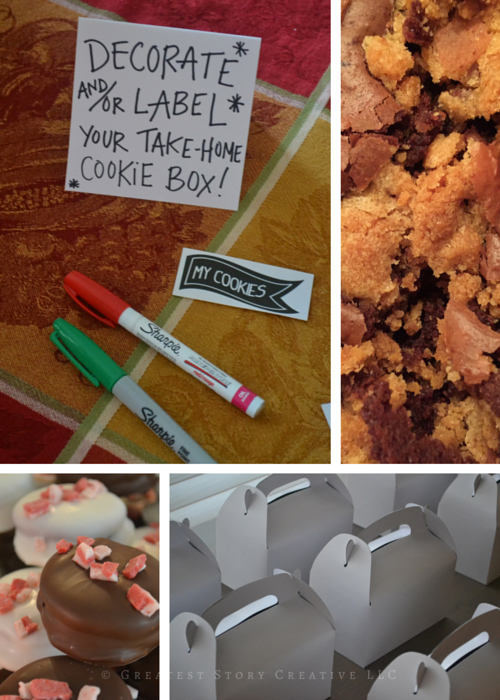 Greatest Story Events: Christmas Cookie Exchange with Gable Box Decoration Station