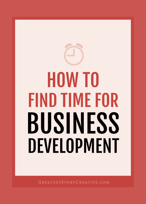 Greatest Story's Skip to Action Business Blog: How to Find Time for Business Development Using Batch Days