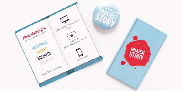 Greatest Story Creative: Custom Designed Book Business Cards