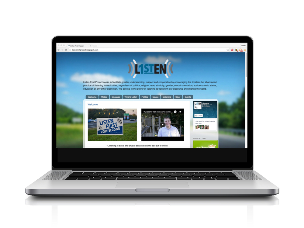 Before Example: Website for Listen First Project