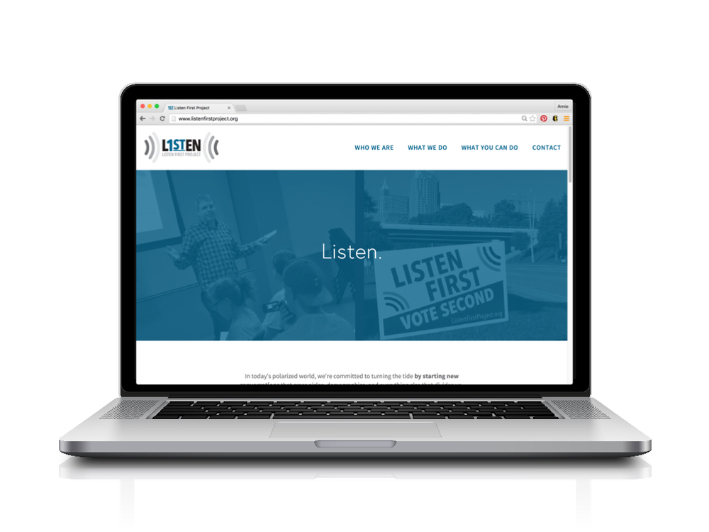 Listen First Project Non-Profit Organization Custom Website + Copy by Greatest Story Creative