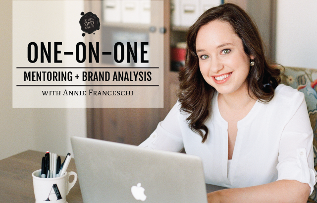 One-on-One Coaching and Brand Analysis Sessions with Annie Franceschi