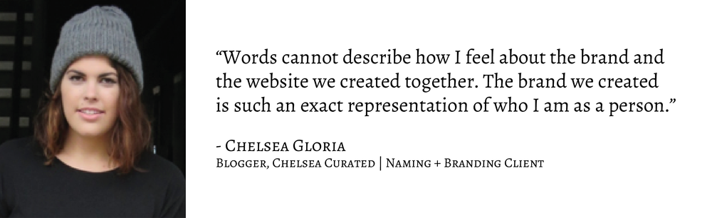 Client Testimonial from Chelsea Curated for Greatest Story Creative
