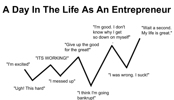 The ups and downs of being an entrepreneur