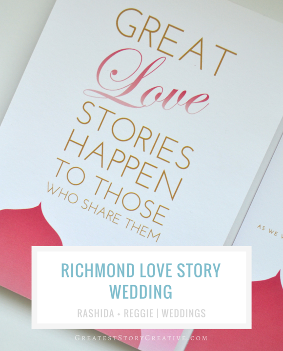 "Richmond Virginia ""Love Story"" Wedding with Custom Invitations by Greatest Story Weddings"