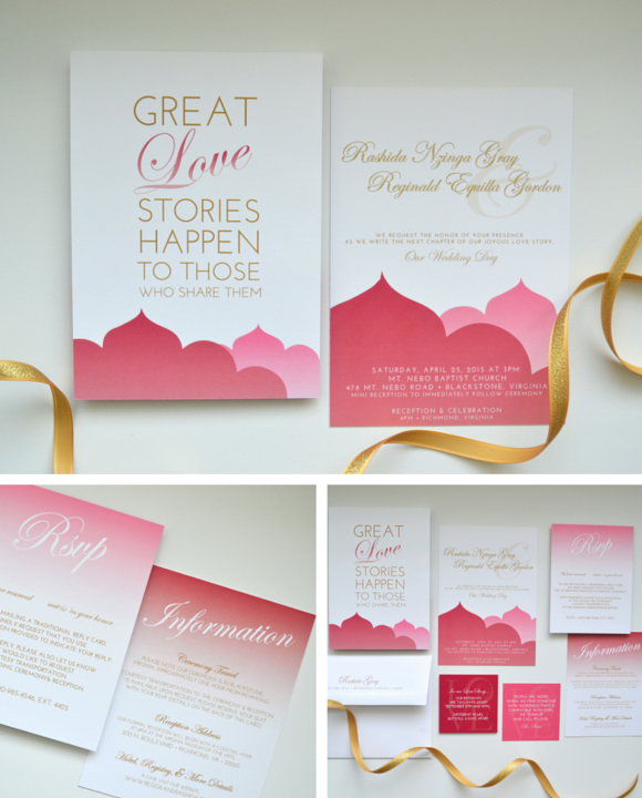 Custom Love Story Wedding Invitation Suite with Ira Glass-inspired Quote by Greatest Story Weddings