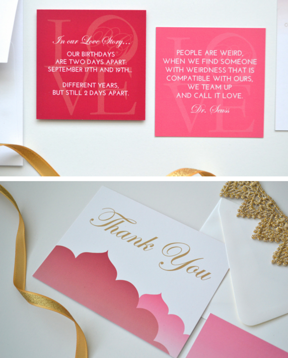 Custom Cocktail Hour Cards with Fun Facts about the Bride and Groom by Greatest Story Weddings