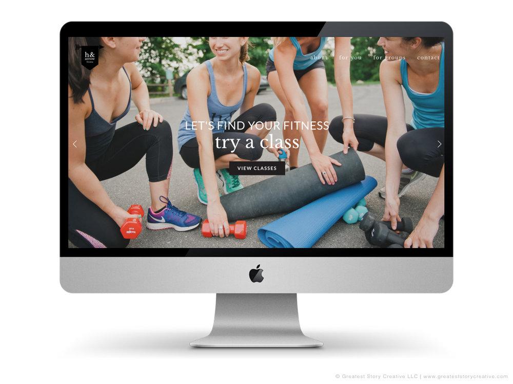 H & Arrow's Website by Greatest Story Creative | Photography by Faith Teasley Photography