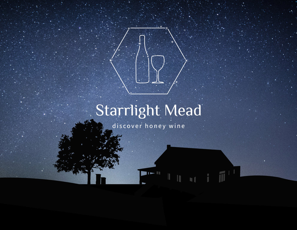 Starrlight Mead Honey Winery | Rebrand Full Brand Story Identity, Wine Labels, and Website
