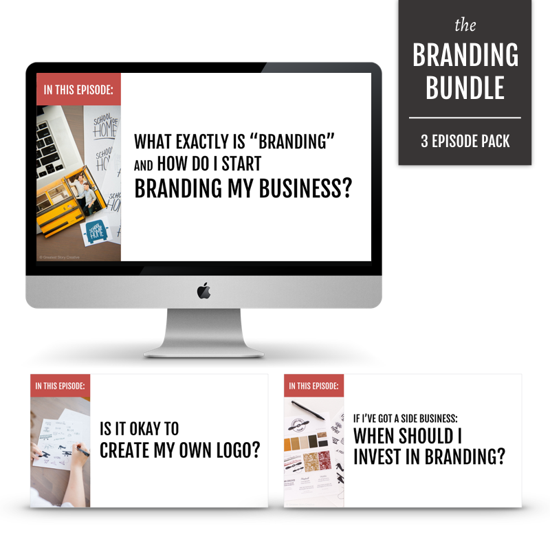 The Branding Bundle: Series of 3 Videos on How to Get Started with Branding in Your Small Business