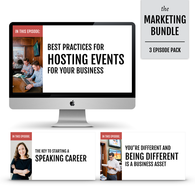 The Marketing Bundle: 3 Video Trainings on Growing Your Small Business through Speaking, Events, and Your Story - From Annie Franceschi of Greatest Story Creative