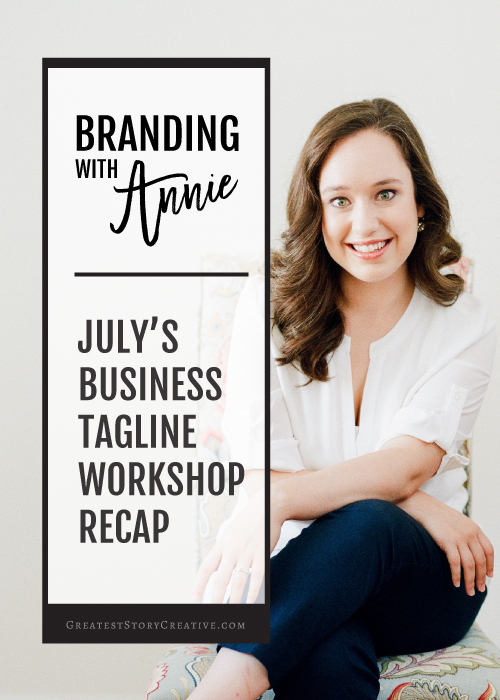 """Branding with Annie"" Tagline Workshop Recap 
