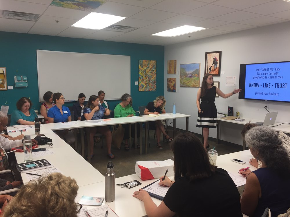 "The ""Branding with Annie"" workshop held monthly at The Frontier"