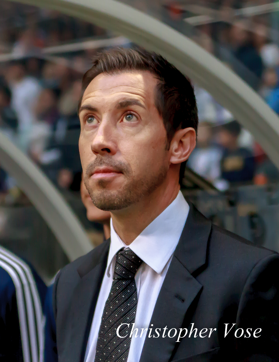 Martin Rennie at BC Place for the final time as Vancouver Whitecaps FC manager on 27 October 2013.