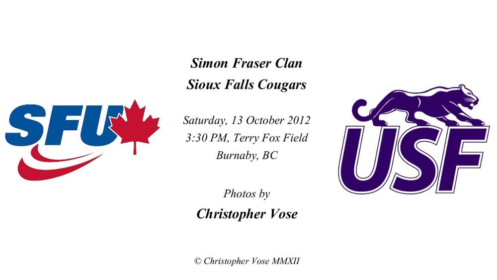 2012-10-13 Round 9; Simon Fraser Clan v Sioux Falls Cougars 1.jpg