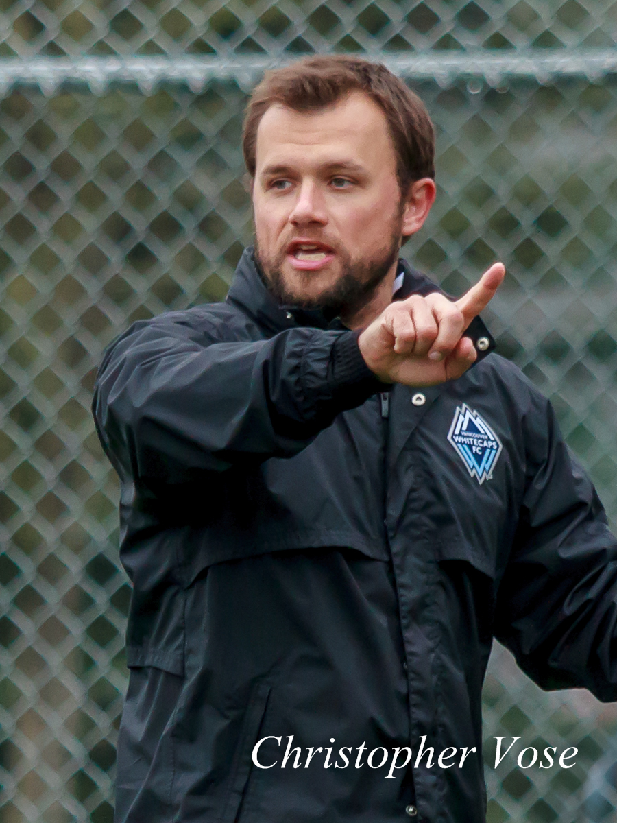 Jake DeClute teaches the players at the Burnaby Lake Sports Complex on 11 February 2013.