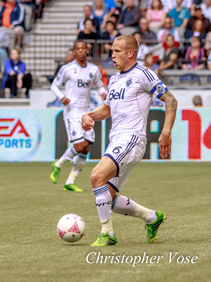Jay DeMerit back at BC Place on 6 October 2013.