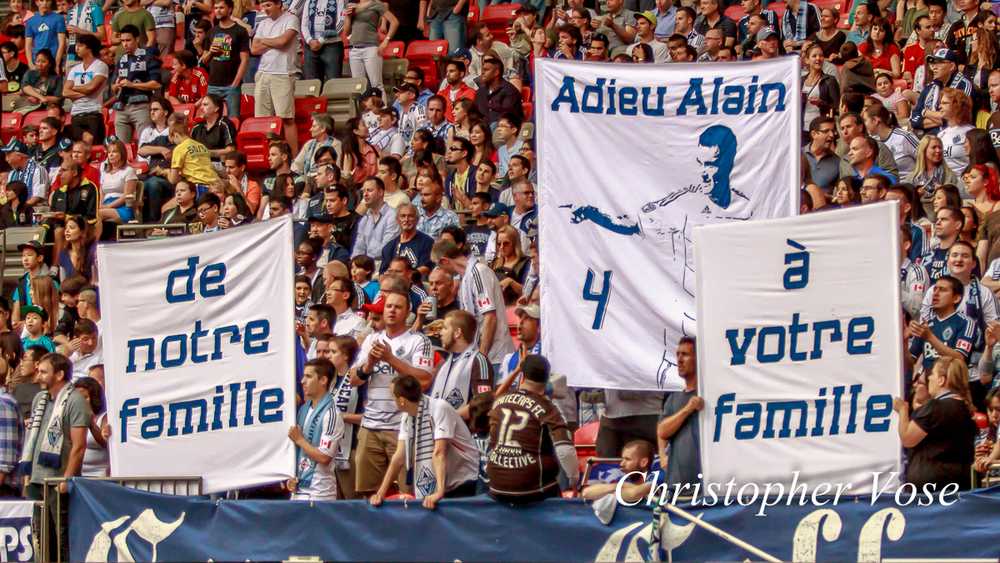 Curva Collective pay their tribute to Alain Rochat at BC place on 15 June 2013.