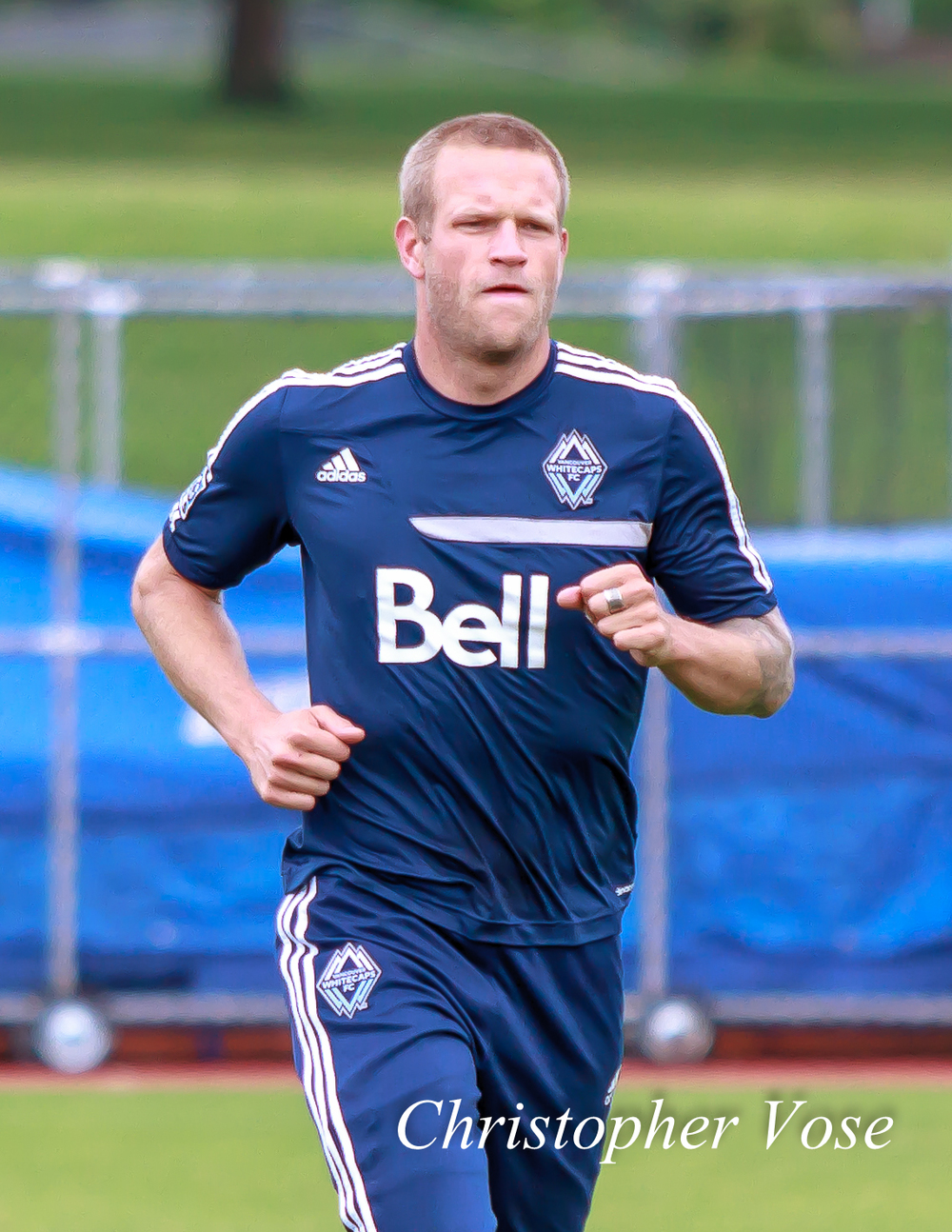 Captain Jay DeMerit resumes training at the National Soccer Development Centre.