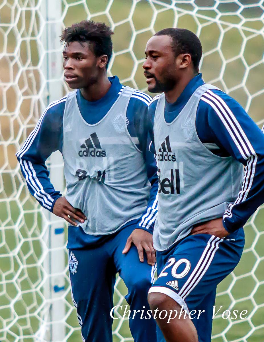 2014-01-28 Sam Adekugbe and Nigel Reo-Coker.jpg