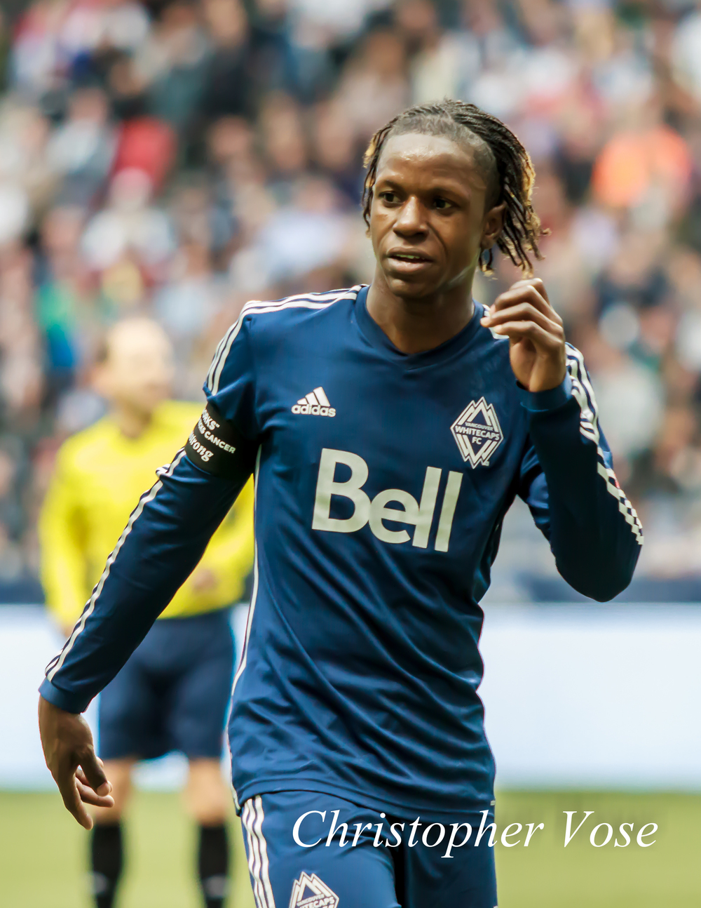 Darren Mattocks had another fine performance against the Houston Dynamo at BC Place on 29 March 2014.