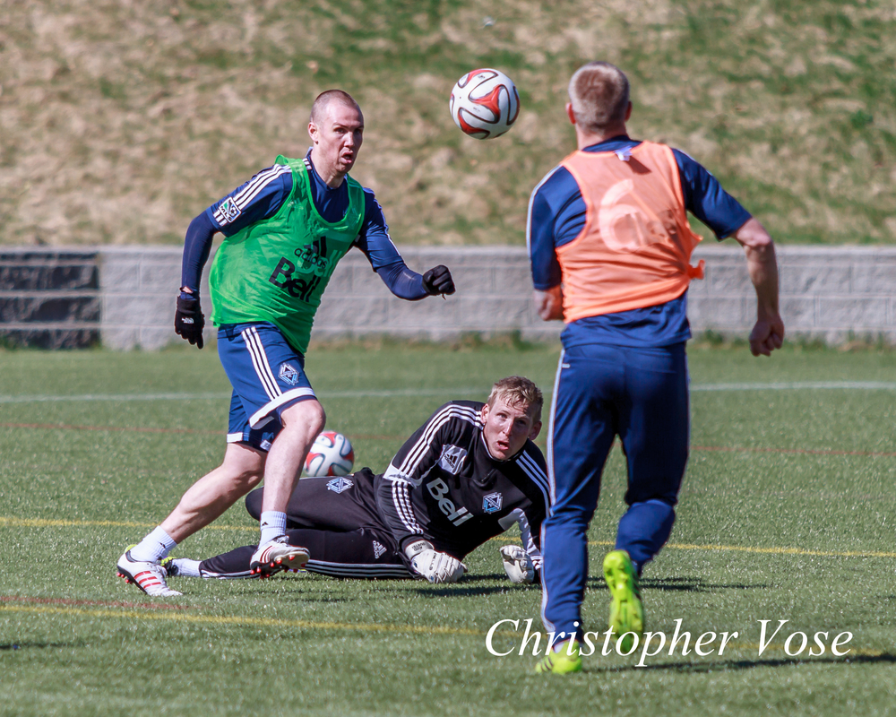 2014-04-01 Kenny Miller, David Ousted, and Jay DeMerit.jpg