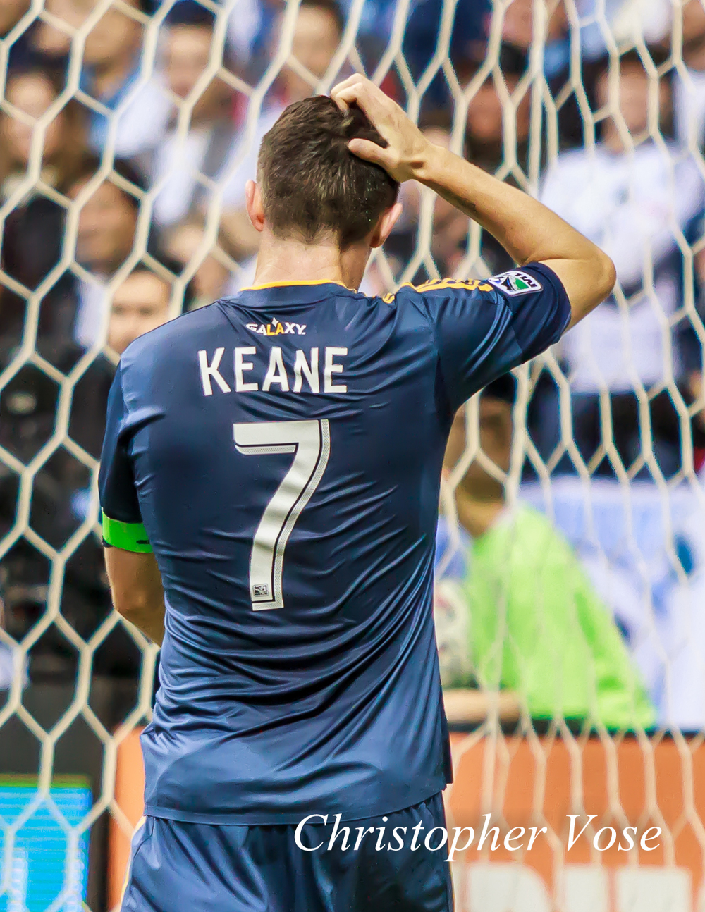 Robbie Keane at BC Place on 19 April 2014 after spending 90 minutes trying to help Landon Donovan become the leading goal scorer in MLS history.