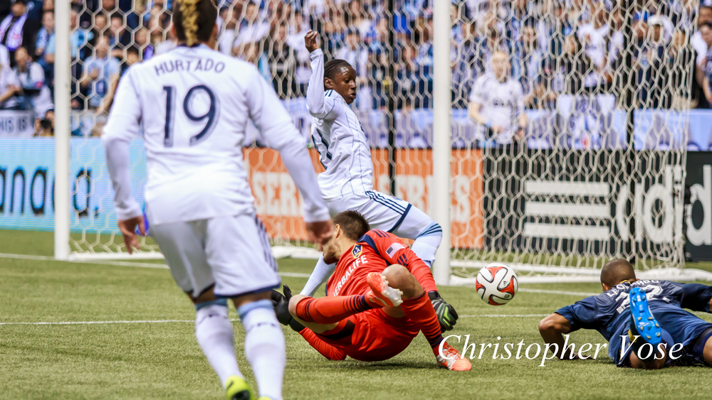 Darren Mattocks was a consistent threat against Los Angeles, and was rewarded for his efforts with a 67th minute goal at BC Place on 19 April 2014.