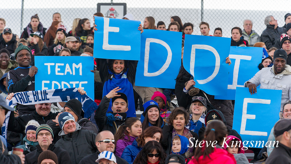 Eddie Edward had his own supporters section at Harris Stadium on 23 April 2014.