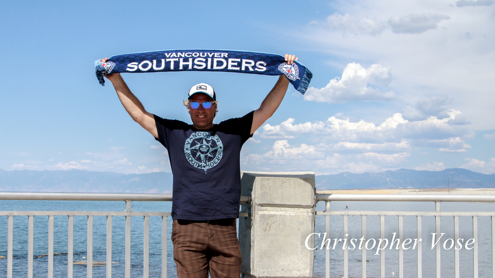 Steve Maddess at Great Salt Lake before the match against Real Salt Lake.