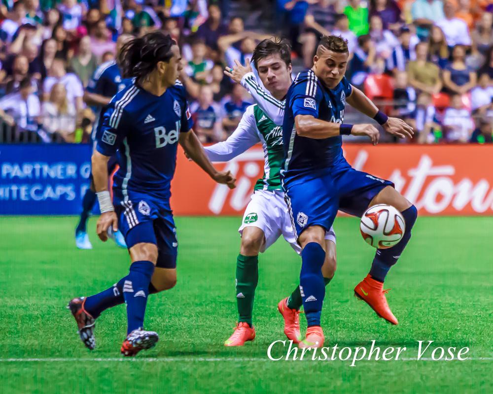 2014-08-30 Mauro Rosales, Jorge Villafaña, and Erik Hurtado.jpg