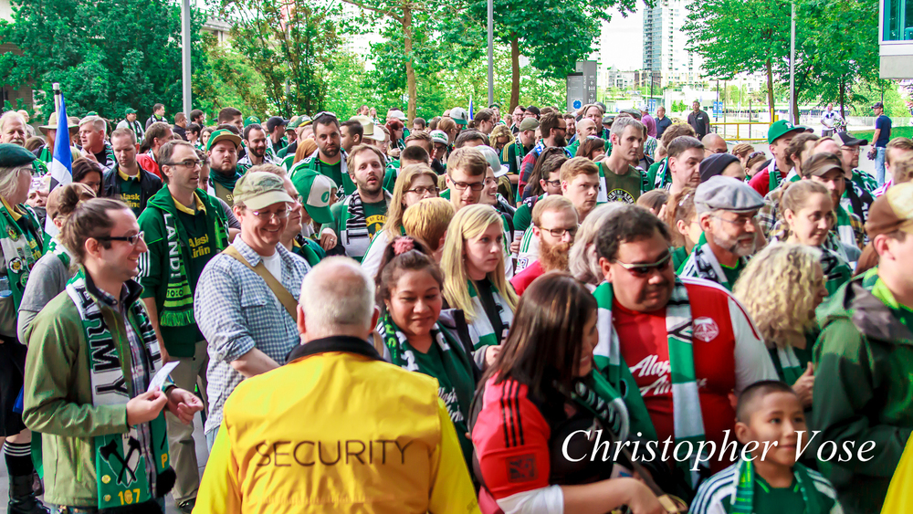 Not that the Timbers Army weren't heard and seen. They arrived in numbers since this was their only visit to BC Place this year.