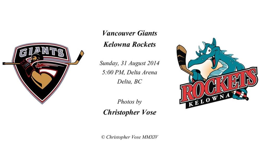 Friendly; Vancouver Giants v Kelowna Rockets (31 August 2014).jpg