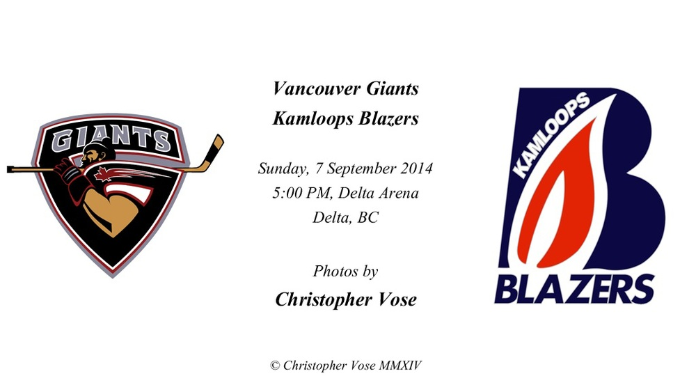 2014-09-07 Friendly; Vancouver Giants v Kamloops Blazers (7 September 2014).jpg