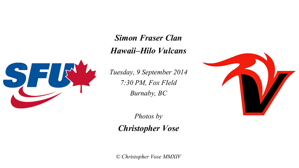 2014-09-09 Friendly; Simon Fraser Clan v Hawaii-Hilo Vulcans.png