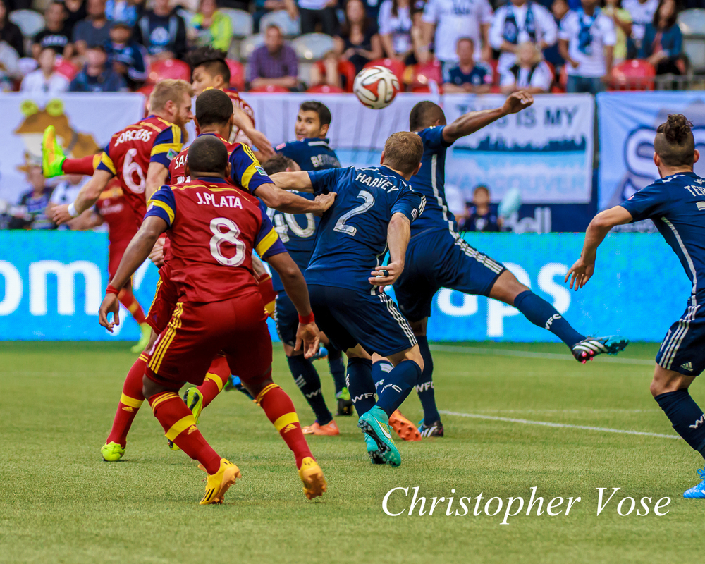 While it wasn't a goal mouth scramble, Nat Borchers certainly emerged from a conflation of bodies to head the ball low into the far corner of the net.