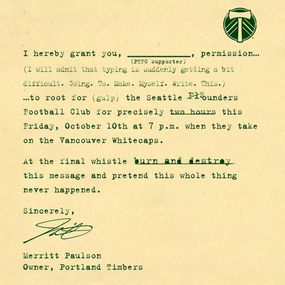 2014-10-10 Portland Timbers Permission Slip.JPG