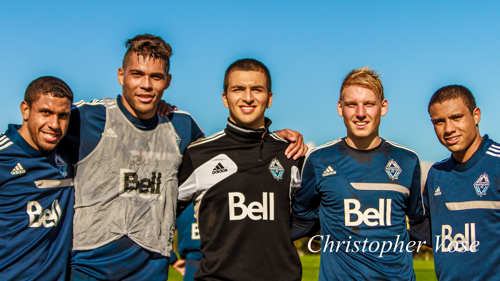 Ethen Sampson, Christian Dean, Marco Carducci, Bryce Alderson, Kianz Froese, and Marco Bustos are Robbo's Rascals. Unfortunately, Bustos had a Under-18 match to play in Burnaby.