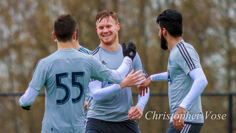 2015-03-19 Mackenzie Pridham's Fourth Goal Celebration.jpg