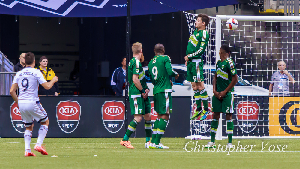Nicolás Mezquida scores on his first goal at BC Place.