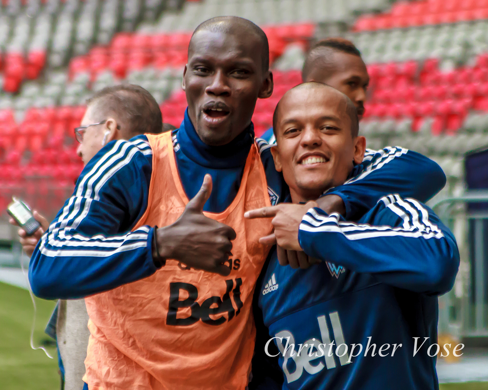 2015-04-01 Pa Modou Kah and Robert Earnshaw.jpg