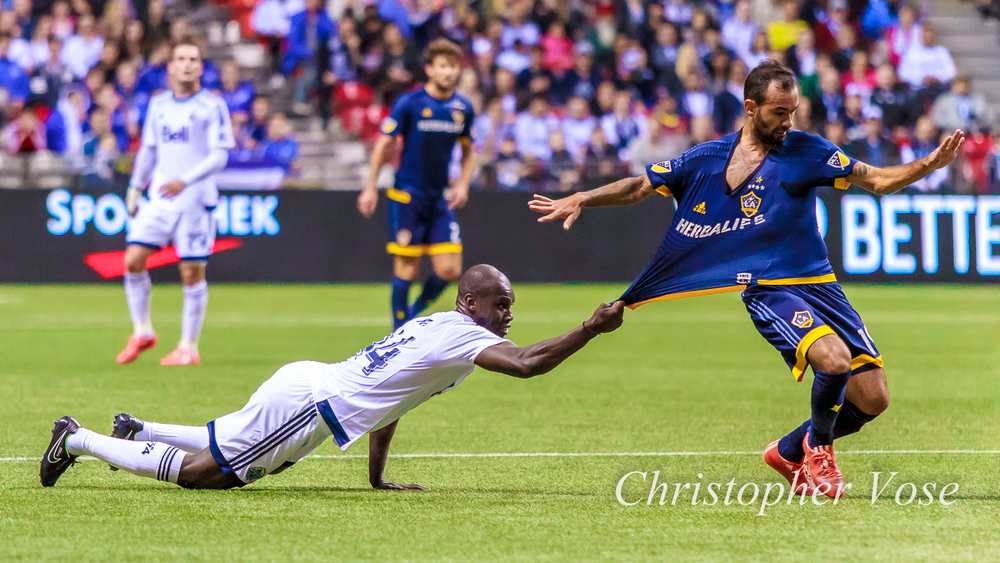 Pa Modou Kah wondered just how far Juninho could drag a 175 lb. man across a Polytan surface. The answer? Not very far at all.