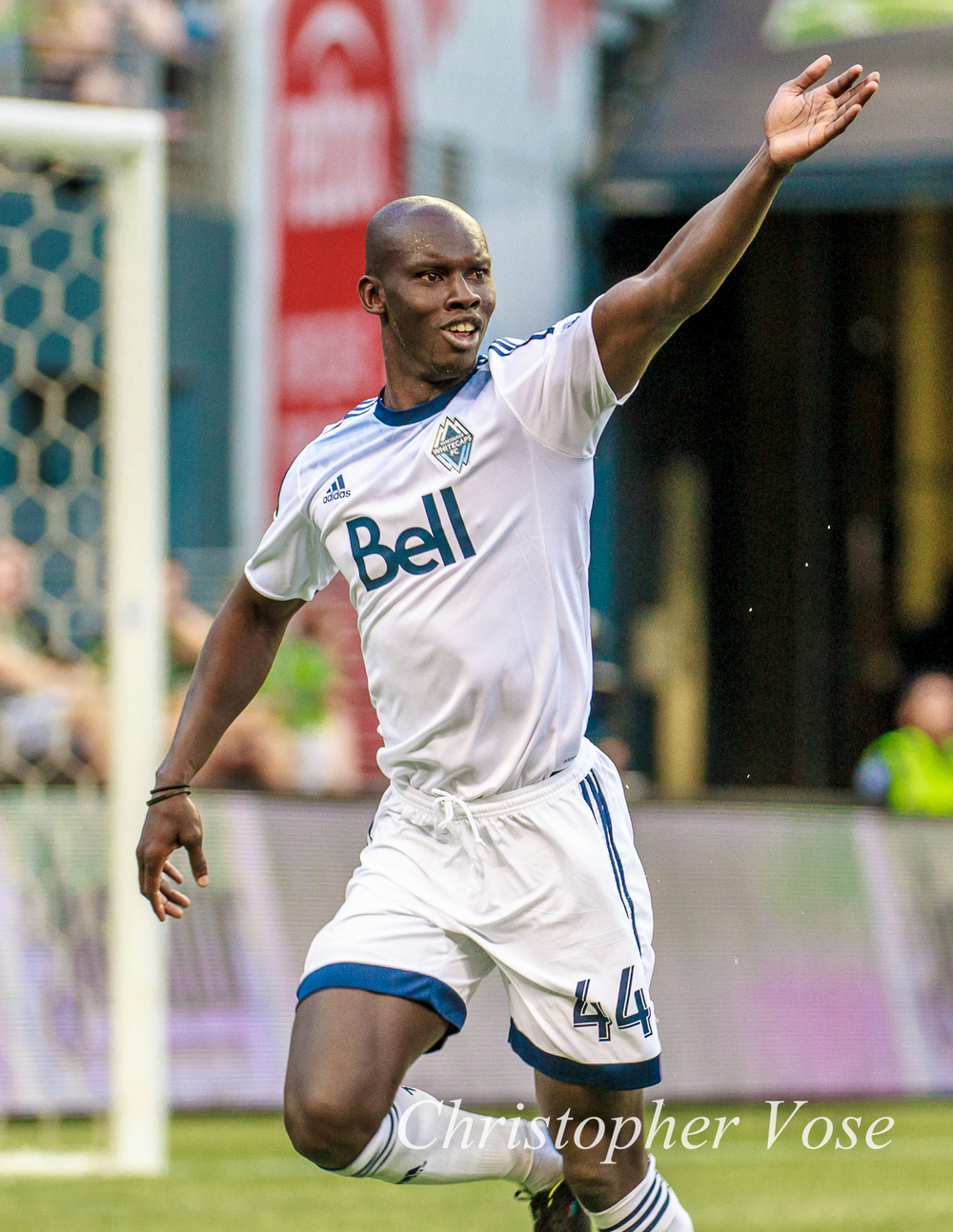 Pa Modou Kah celebrates his second goal against Seattle on Saturday.