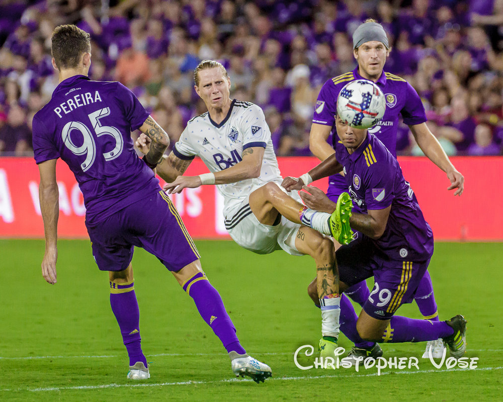 2017-08-26 Leo Pereira, Brek Shea, Tommy Redding, and Dillon Powers.jpg