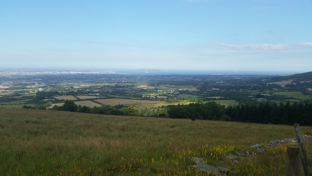 August 2015 ~ View of Dublin Bay from atop the Dublin Mountains in Killakee, Co. Dublin  Photography by cebowe