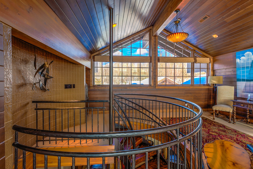 Sometimes you want additional images so you can feature special items, like the spiral staircase in this home.