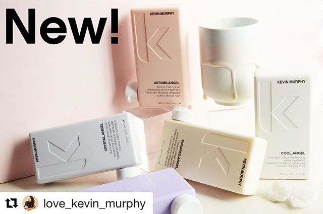 So excited the secret is finally out! Time to play with these new toys. #Repost @love_kevin_murphy with @get_repost ・・・ Introducing COLOURING.ANGELS! Our newest colour and shine-enhancing treatments designed to add an instant kiss of colour for a lip gloss-like shine in your hair #lovekm #colouringangels #kmeducation #colormebykm #thechoiceswemake #cultureislife #connect #inspire #skincareforyourhair #greensalon #freshlytressed #goldkey #salonmeritage #love_kevin_murphy #sustainablebeauty
