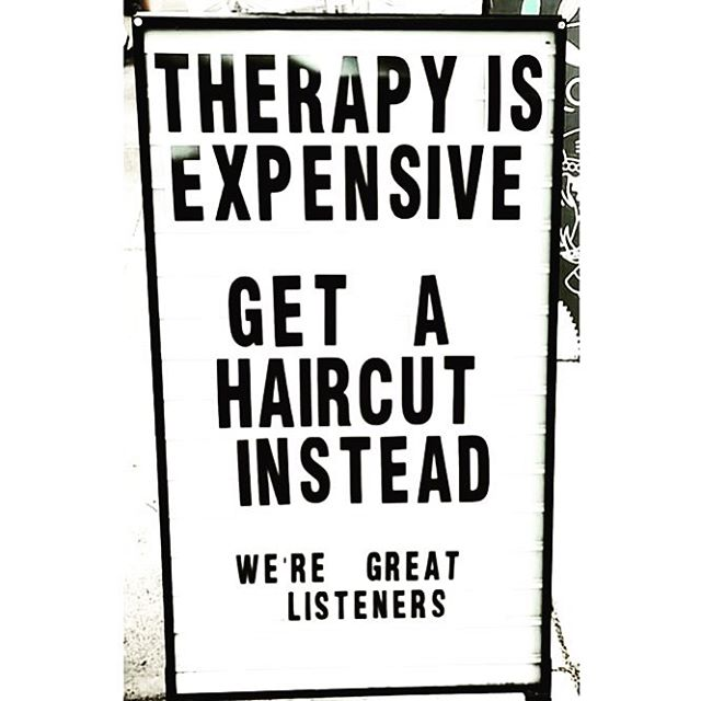 We also serve beer and wine to help the conversation. 😂. #freshlytressed #salonmeritage #hair #sealbeachhair #longbeachhair #livedinhair #instagood #instahair #allmodernhair #lovekm #kmeducation #colormebykm #thechoiceswemake #cultureislife #connect #inspire #skincareforyourhair #greensalon #goldkey #love_kevin_murphy #hairhealer #sustainablebeauty