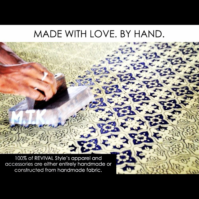 Handmade with love #REVIVALStyle #slowfashion #quality quantity