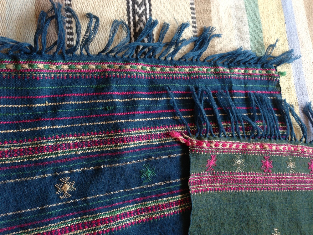 """The outcome of his hard work is this pair of """"hot-off-the-loom"""" wool scarves, featured in REVIVAL Style's collection"""